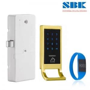 Khóa từ tủ đồ locker mã số LK-EM1106 – Viền vàng
